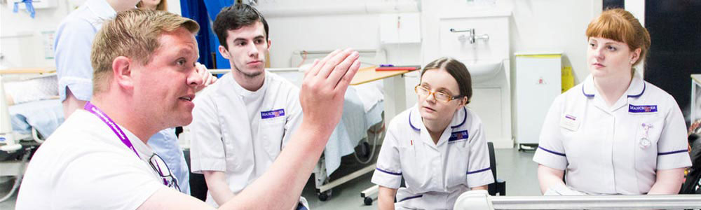 Student nurses at the University of Manchester
