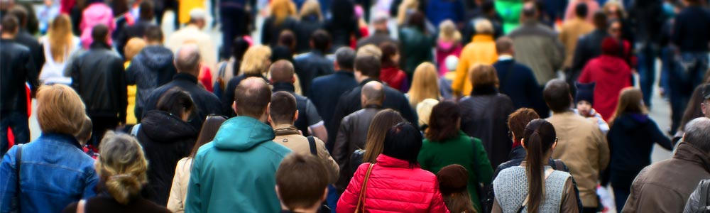 Population health image: a crowd of people
