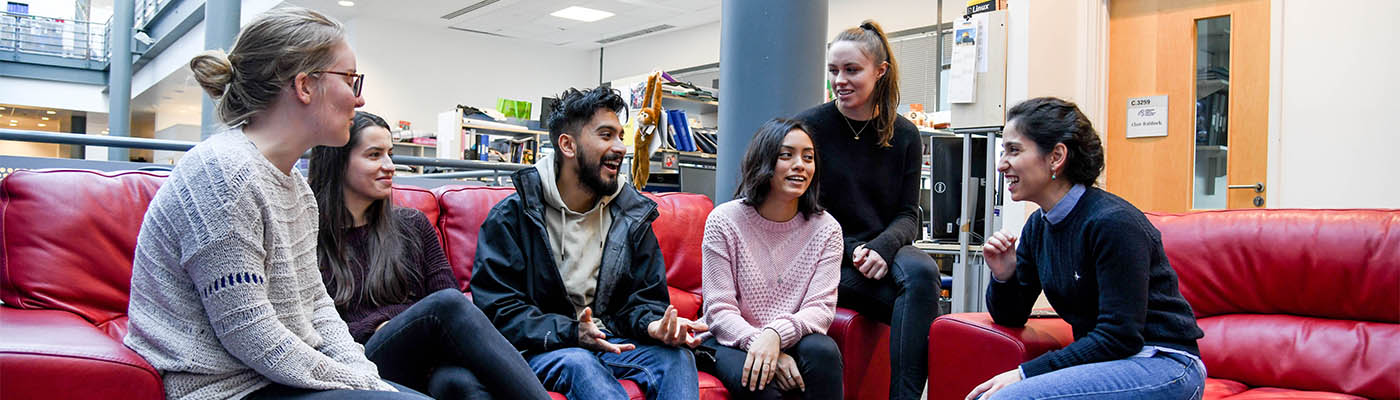 Image: Students socialising